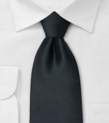 Extra long black tie Formal XL necktie in black