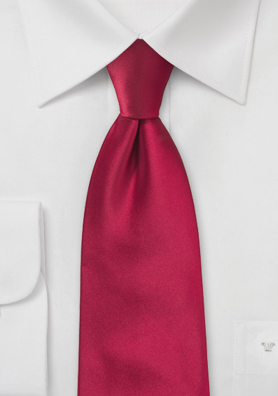 Clip on ties<br>Solid red clip-on tie