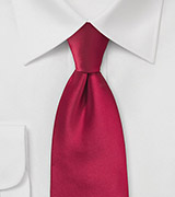 Extra long ties Bright red XL necktie