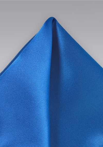 Bright Blue Pocket Square