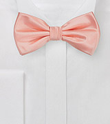 Peach Pink Colored Bow Tie