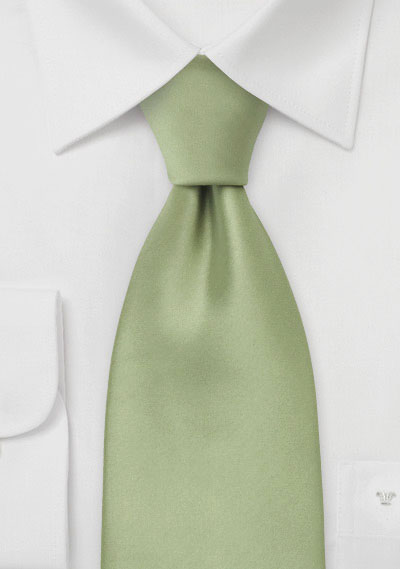 Solid Tea Green Kids Tie