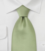 Solid Tea Green XL Tie