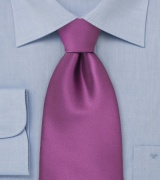 Solid Dark Lilac Purple Extra Long Tie