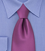 Solid Mens Necktie in Light Purple