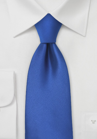Bright Azure-Blue Necktie in XL