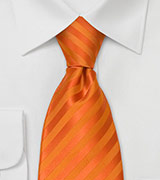Orange Neckties<br>Bright Orange Mens Tie