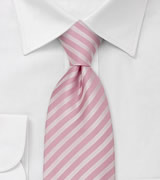 Pink Mens Ties Pink Tie With Stripe Pattern