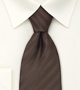 Chocolate Brown Tie With Subtle Stripes