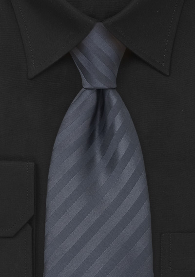 Charcoal Gray Clip-On Necktie