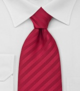 Solid Cherry Red Power Tie in XL Length