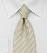 Subtle Striped Tie in Vanilla-Yellow