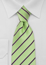 XXL Tie in Mint Green Purple