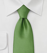 Fern Green Tie in Extra Long Length