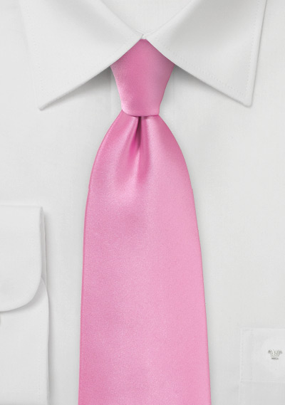 Solid Bright Pink Necktie for Kids