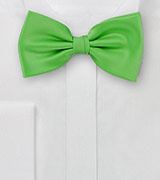 Solid Bow Tie in Kelly Green