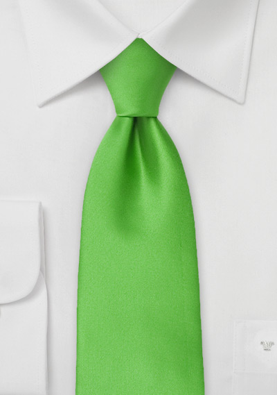 Kids Size Tie in Kelly Green
