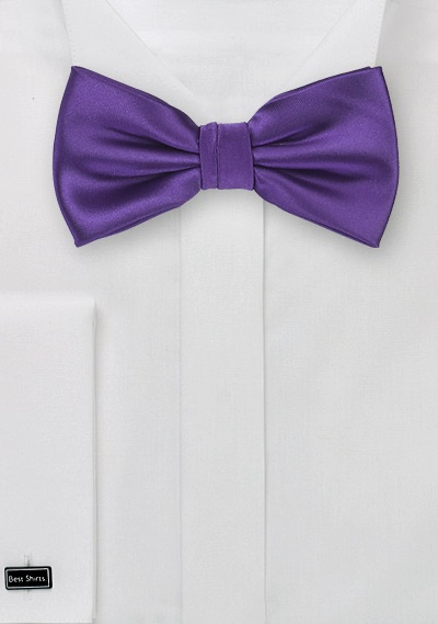 Regency Purple Bow Tie for Kids