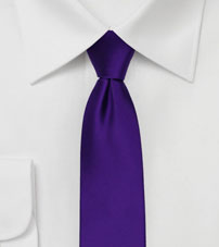 Skinny Tie in Regency Purple