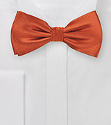 Dark Coral Red Bow Tie