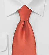 "Solid Color Tie ""Moulin"" - Dark Coral"