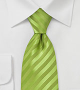 Extra Long Apple Green Tie
