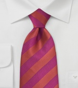 Red and Magenta Striped tie