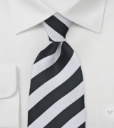 Classic Black and White Tie