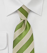 Fern Green and Wheat Tie