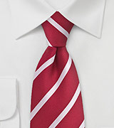 Striped Red and White Tie