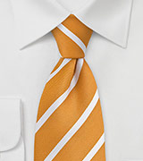 Summer Tie in Orange Yellow and White