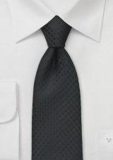 Monochromatic Black Tie in XL Length