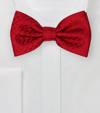 Solid Gingham Check Bow Tie in Red