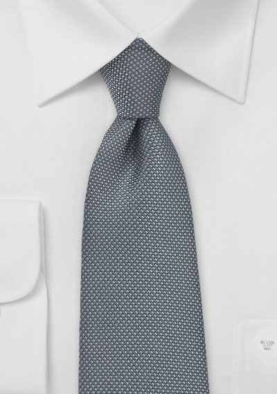 Matte Textured Mens Tie in Gray