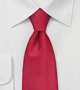Grenadine Texture Tie in Bright Red