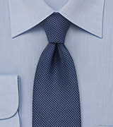 Solid Navy Grenadine Patterned Tie