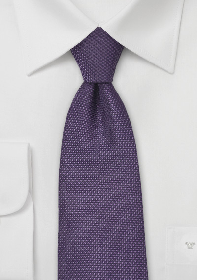 Grape Colored Tie with Textured Weave in Kids Size