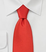 Cinnamon Red Necktie