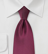 Claret Red Tie in XL