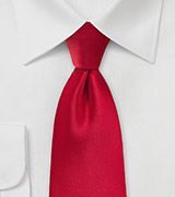 Solid Necktie in Cherry Red