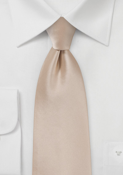 Champagne Tie in XL Length