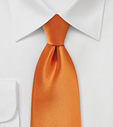 Tangerine Colored Tie for Boys