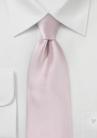 Extra Long Men\'s Tie in Blush