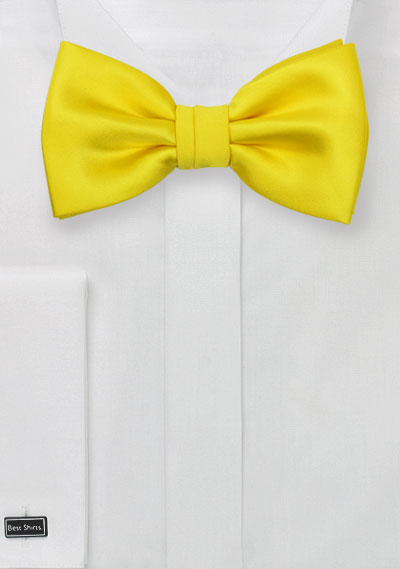 Men\'s Summer Bow Tie in Canary