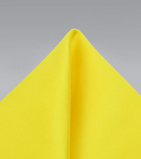 Canary Yellow Mens Pocket Square