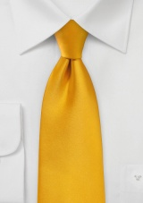 Extra Long Tie in Golden Saffron