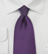 Kids Tie in Solid Eggplant