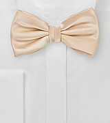 Mens Bow Tie in Rich Champagne