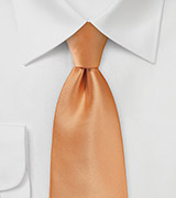 Solid Apricot Tie in Kids Length