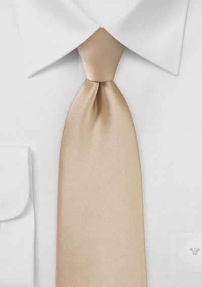 Oatmeal Colored Tie in XL Length
